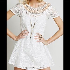 NWT Free People Holy Mountain White Crochet Dress